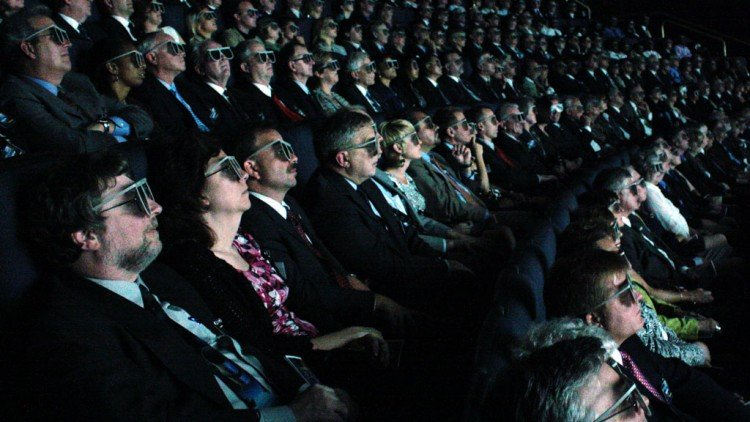 People Viewing 3D IMAX Video